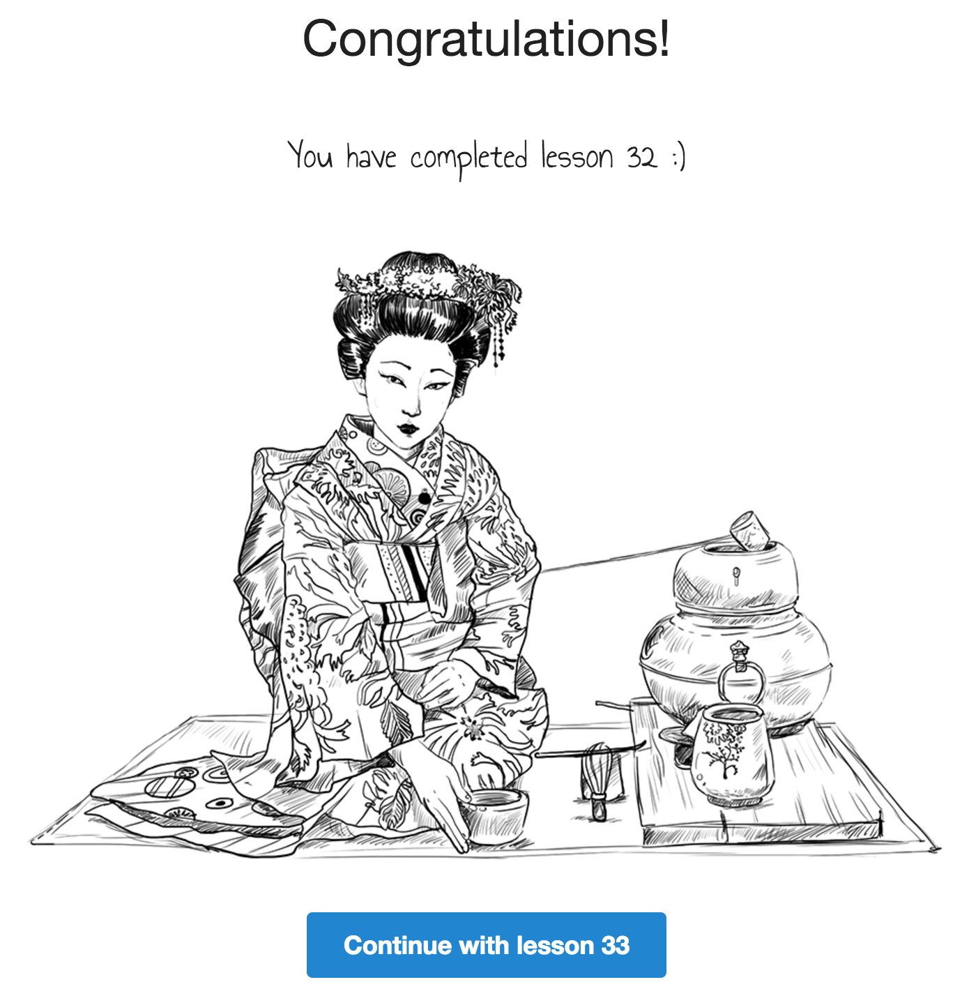 Japanese lesson completed